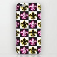 fleur de lis iPhone & iPod Skins featuring Fleur de lis pattern by Rceeh