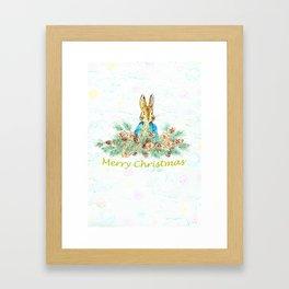 Peter Rabbit Christmas Framed Art Print