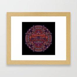 Collider mask Framed Art Print