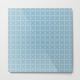 Blue & Green Squares Pattern Metal Print