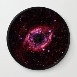 Magenta Pink helix nebula Wall Clock