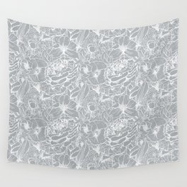 Of Peonies & Poppies - Paloma Blue Edition Wall Tapestry