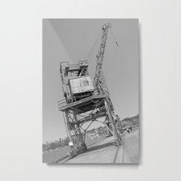 Dockyard crane Metal Print