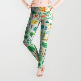 Jungle life with golden unicorn Leggings