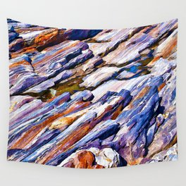 Rocky abstract Wall Tapestry