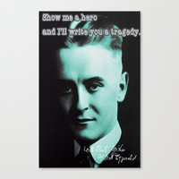 fitzgerald Canvas Prints featuring Francis Scott Fitzgerald by Guido prussia