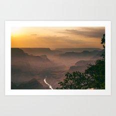 Grand Canyon - South Rim - Evening Haze Art Print