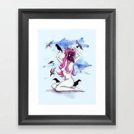 Plague Doctor Pinup Framed Art Print