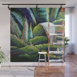 Agave Cactus Southwest Style Painting Wall Mural