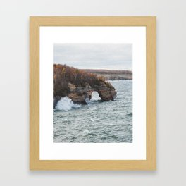 Lover's Leap   Pictured Rocks National Lakeshore, Michigan   John Hill Photography Framed Art Print