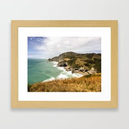 Cape Kidnappers, New Zealand Framed Art Print