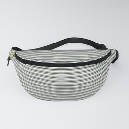 Night Watch PPG1145-7 Horizontal Stripes Pattern 2 on Horseradish Off White PPG1086-1 Fanny Pack