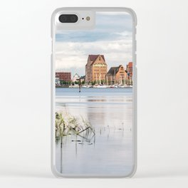 View over the river Warnow to Rostock Clear iPhone Case