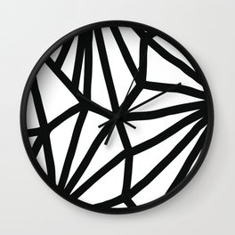 Modern Black and White geometric pattern #abstractart #decor Wall Clock