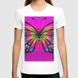 Vibrant, Decorative Butterfly T-shirt