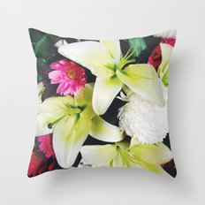Flowers Galore Throw Pillow