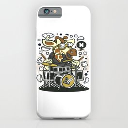 Girrafe Drummerfor animated characters comics and pop culture lovers iPhone Case