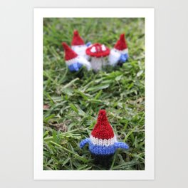 Meeting of the Gnomes Art Print