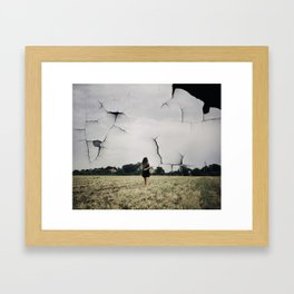 Beautiful and terrifying as nature itself Framed Art Print