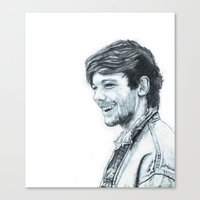 louis tomlinson Canvas Prints featuring LOUIS TOMLINSON by Mimirainb0w