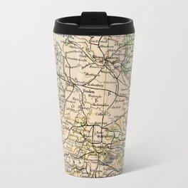 Old and Vintage Map of Germany Outline Travel Mug