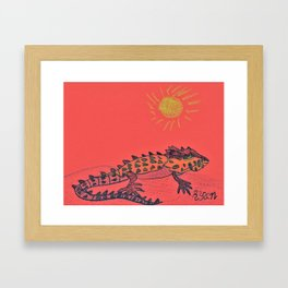 Crocodile Skink Framed Art Print
