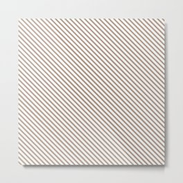 Warm Taupe Stripe Metal Print