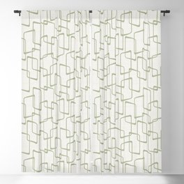 Reverse Beryl Green Mid Century Geometric Pattern Blackout Curtain