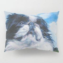 Japanese Chin dog art from an original painting by L.A.Shepard Pillow Sham