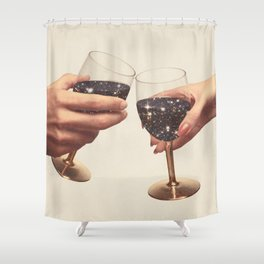 Primordial Wine Shower Curtain