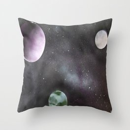 Space Scape One Throw Pillow