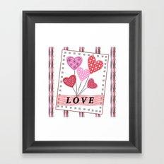 Bright hearts.Love , Valentine's day Framed Art Print