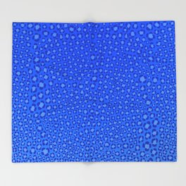 Wild Thing Cool Blue Leopard Print Throw Blanket