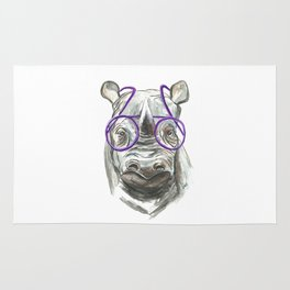 Molly the Rhinoceros Rug