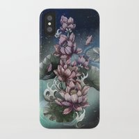 lotus iPhone & iPod Cases featuring Lotus by Marine Loup