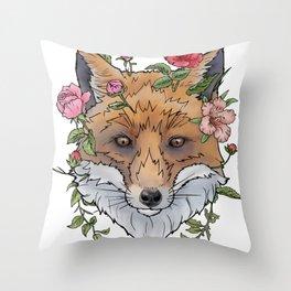 Boho Fox Throw Pillow