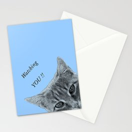 Watching YOU !! Stationery Cards