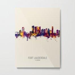 Fort Lauderdale Florida Skyline Metal Print
