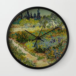 Garden at Arles Wall Clock
