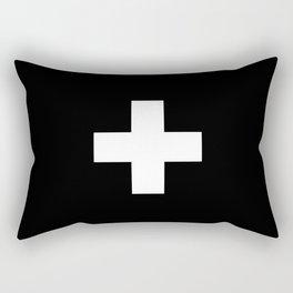 Swiss Cross Black and White Scandinavian Design for minimalism home room wall decor art apartment Rectangular Pillow
