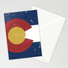 Distressed Colorado Flag Stationery Cards