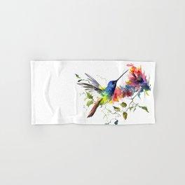 Hummingbird, tropical Foliage, Hawaiian design, tropical, colors Hand & Bath Towel
