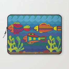 Stylize fantasy fishes under water. Laptop Sleeve