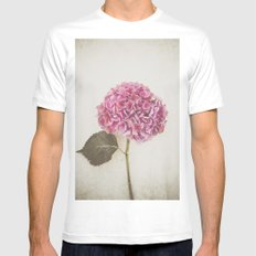 Beautiful Pink Hydrangea Mens Fitted Tee White MEDIUM