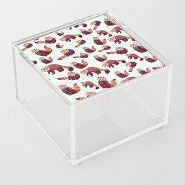 Red Panda Pattern Acrylic Box