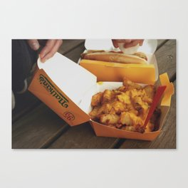 Fries and Cheese Canvas Print