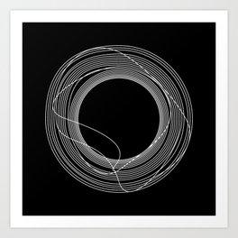 White Tangled Circles Kunstdrucke