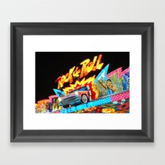 Rock & Roll on the midway! Framed Art Print