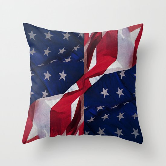 Red white and blue throw pillow by daisy beatrice society6 for Red and blue pillows