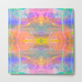 Prisms Play of Light 2 Mandala Metal Print